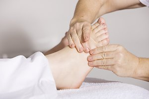 Therapies. foot massage